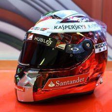 El casco de Fernando Alonso para el GP de Abu Dabi (5)
