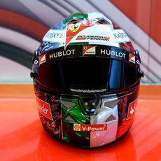 El casco de Fernando Alonso para el GP de Abu Dabi (7)