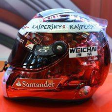 El casco de Fernando Alonso para el GP de Abu Dabi (8)