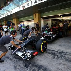 Adderly Fong en su debut en la F1