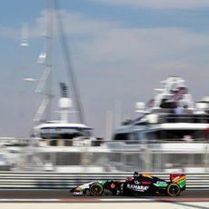 Sergio Pérez espera poder entrar mañana en la Q3