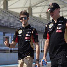 Romain Grosjean junto con Alan Permane