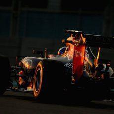 Sebastian Vettel mostrando un buen rendimiento