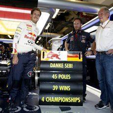 Red Bull ha agradecido a Sebastian Vettel sus servicios prestados