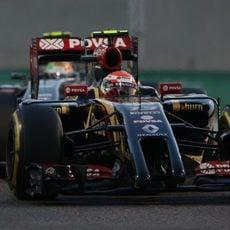 Pastor Maldonado luchando con muy buen ritmo