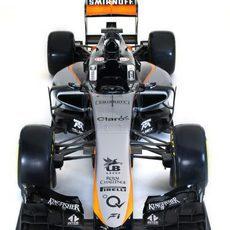 Visión superior del Force India VJM08