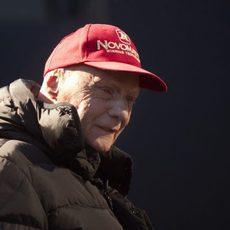 Niki Lauda no quiso perderse el primer día de test