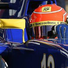 Detalle del casco de Felipe Nasr