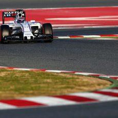 Valtteri Bottas rodando sin problemas el último día de test