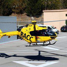 Alonso es trasladado por helicóptero
