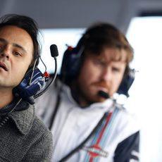 Felipe Massa no se ha querido perder el trabajo de Valtteri Bottas