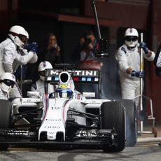 Prácticas de pit stop del equipo Williams
