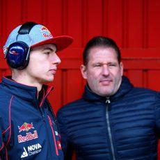 Los Verstappen no se han perdido nada del trabajo en pista