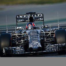 Daniil Kvyat realizando evaluaciones aerodinámicas