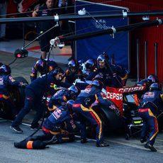 Trabajo en equipo en Toro Rosso