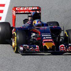 Carlos Sainz rueda con el neumático blando