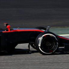 Jenson Button se concentra en su trabajo en pista
