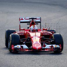 Sebastian Vettel sigue acumulando datos con su Ferrari