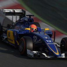 Marcus Ericsson comprueba sus sensaciones con neumáticos duros