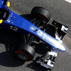 Marcus Ericsson rueda con neumáticos superblandos