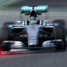 Nico Rosberg exprime su Mercedes W06
