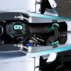Primer plano del 'cockpit' de Nico Rosberg