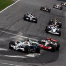 Rubens Barrichello en carrera