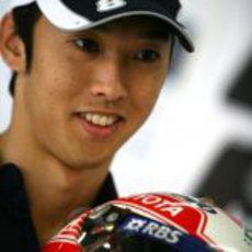 Nakajima en boxes