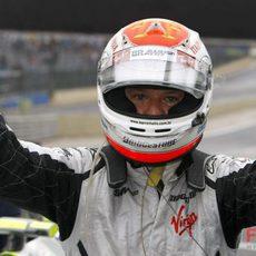 Barrichello en la pole