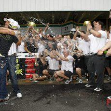 Celebración en Brawn GP