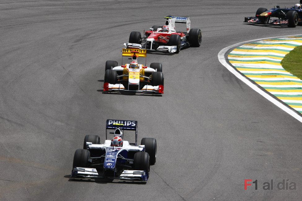Nakajima en la pista brasileña