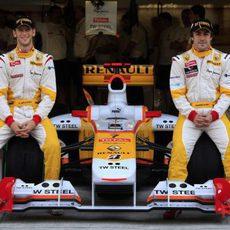 Los dos pilotos de Renault