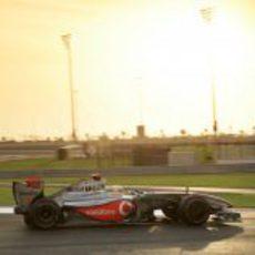 Hamilton en la pista
