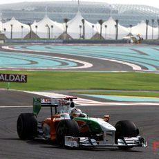 Sutil en Abu Dhabi
