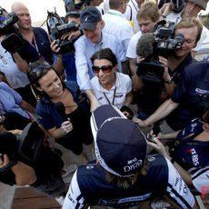 Rosberg atiende a los medios