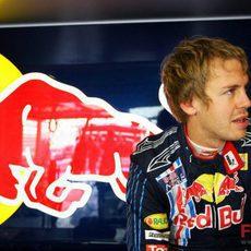 Vettel en boxes