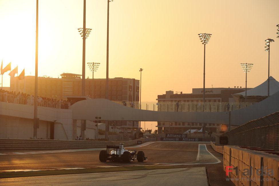 Heidfeld en Abu Dhabi
