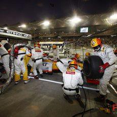 Grosjean hace una parada