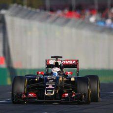 Romain Grosjean está contento con el rendimiento del E23