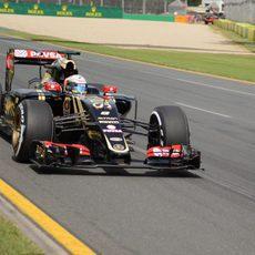 Romain Grosjean terminó contento por llegar a la Q3