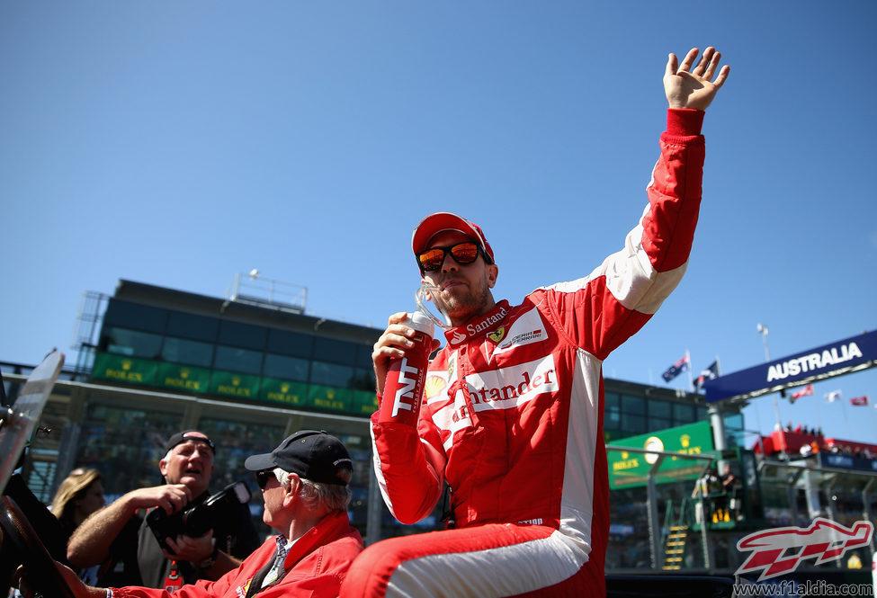 Sebastian Vettel, listo para su primera carrera de rojo