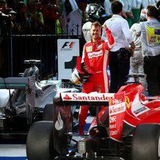 Sebastian Vettel, contento tras acabar tercero en Melbourne
