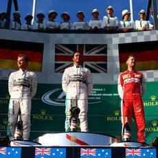 Podio del Gran Premio de Australia 2015