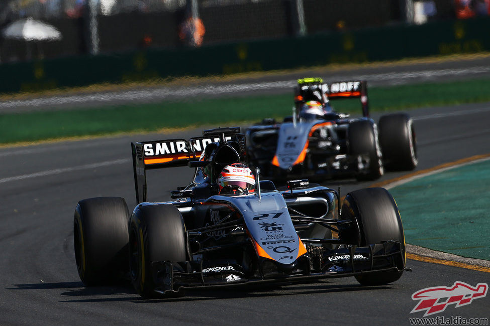 Los dos Force India terminan en los puntos