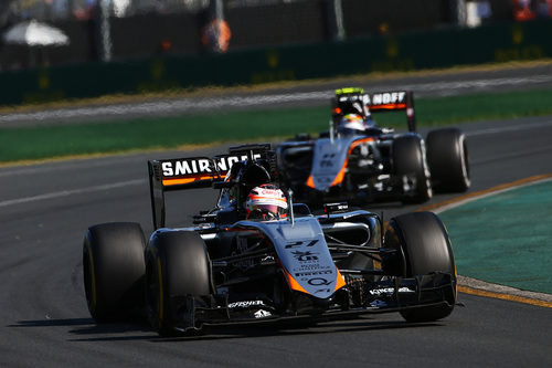 Los dos Force India terminan en los puntos