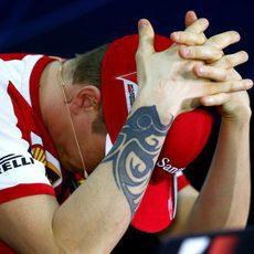 Kimi Räikkönen, desesperado