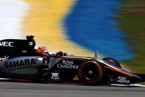Nico Hülkenberg con los neumáticos duros