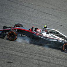 Jenson Button con problemas de subviraje