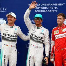 Lewis Hamilton con Sebastian Vettel y Nico Rosberg: los tres más rápidos en Sepang