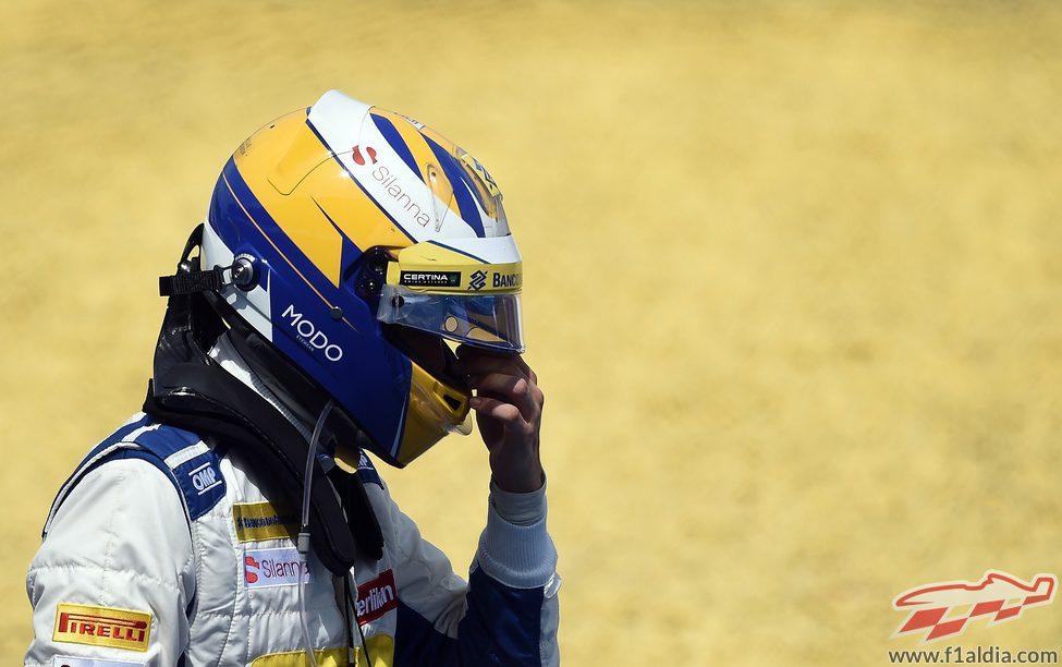 Marcus Ericsson abandona la carrera decepcionado